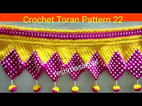 Crochet Toran Pattern 22 वुल से तोरण कैसे बनाये Youtube