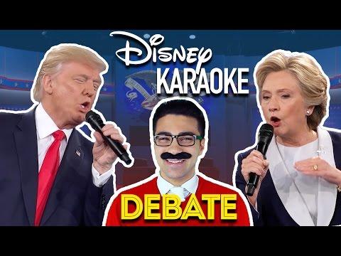 Donald Trump & Hillary Clinton Presidential Disney Karaoke Debate | Daniel Coz