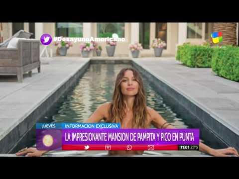 La lujosa mansión donde Pampita y Pico Mónaco pasan las vacaciones en Punta del Este