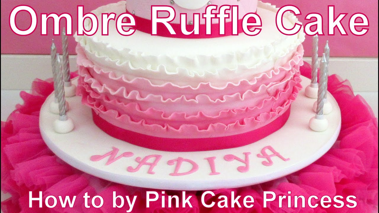 Ombre Pink Cake Tutorial