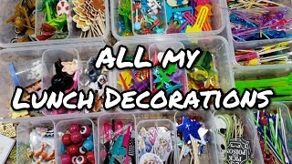 Back To School Lunch Decorations - How I Store Bento Lunch Decorations - Bella Boo's Lunches