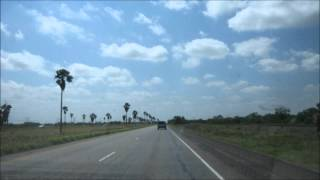 driving from San Antonio to South Padre Island time lapse