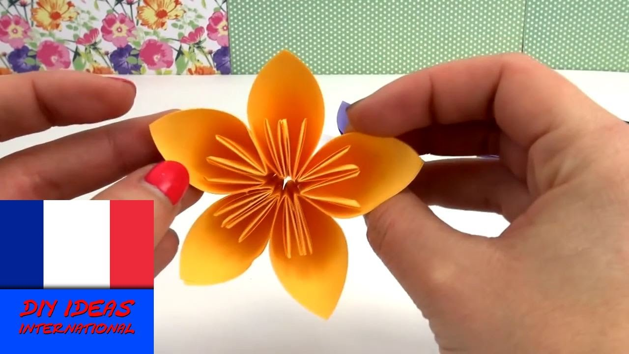 origami fleur diy belles fleurs pour le printemps tutoriel sp cial p ques fran ais youtube. Black Bedroom Furniture Sets. Home Design Ideas