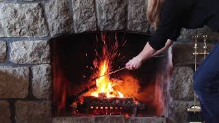 Best Crackling Fire Log - FUNNY! (HIGH DEF AUDIO)
