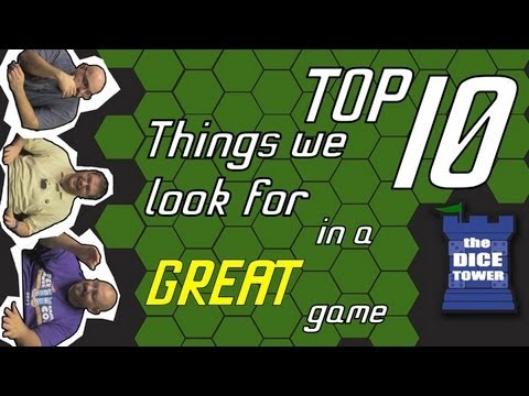 Top 10 Things We Look for in a Great Game