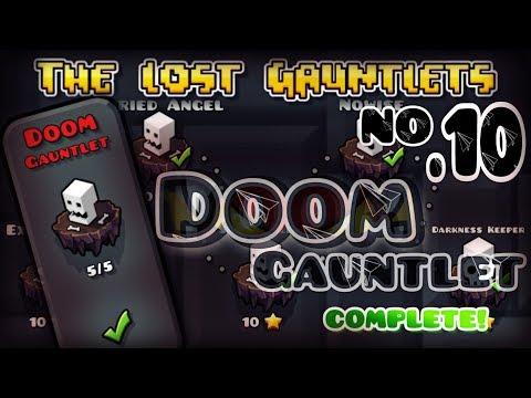 'DOOM GAUNTLET' (All Levels & All Coins) 100% COMPLETE | Geometry Dash 2.11 - Dorami [1080p / 60Fps]