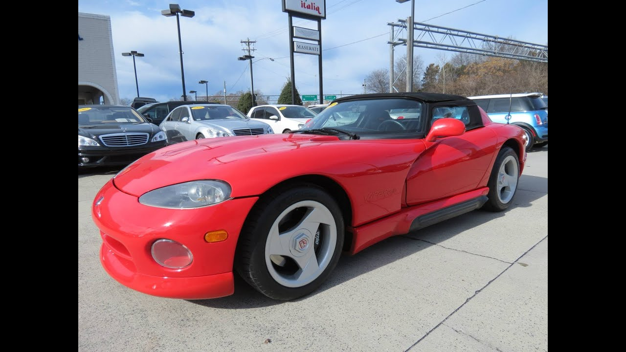1993 dodge viper rt 10 roadster start up exhaust and in depth review youtube