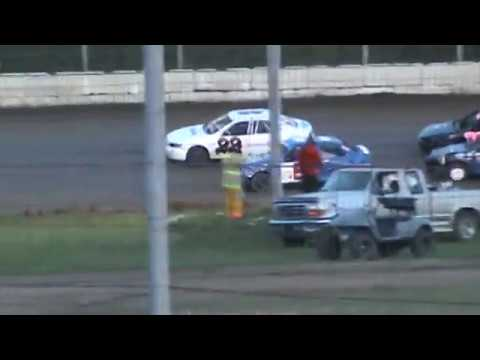Cayden Vance Crash after Getting Pole Position in Feature 4-23-17 Humboldt Speedway