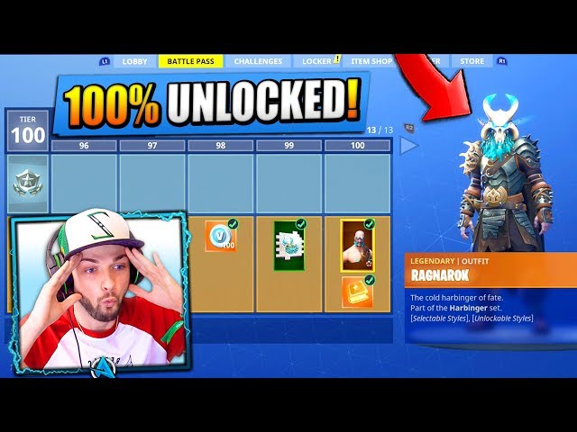 *NEW* SEASON 5 - TIER 100 SKIN (UNLOCKED) - Fortnite: Battle Royale!