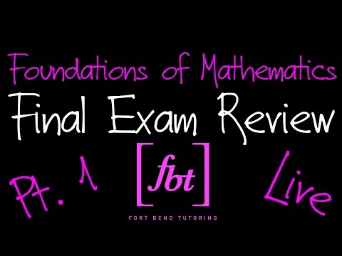 ⚫️ Foundations of Mathematics Final Exam Review: Part 1 [fbt] (MATH 0409 - Developmental Math II)