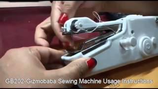 GB202-Gizmobaba Mini Sewing Machine: USAGE thumbnail