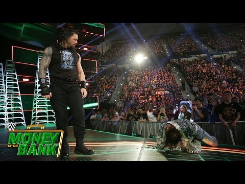 Roman Reigns Wrecks Elias On The Entrance Ramp: WWE Money In The Bank 2019