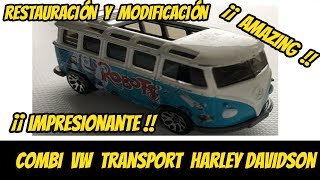 Modificamos una hot wheels combi transport ¡¡ no creerás el resultado !! | Custom Mexico