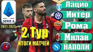 Футбол Серия А Обзор 2 Тур Чемпионат Италии 21 2022 Результаты Расписание Таблица
