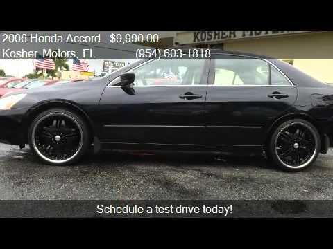 2014 Honda Accord Rims >> 2006 Honda Accord EX V-6 Sedan LEATHER-RIMS-XM R for sale in - YouTube