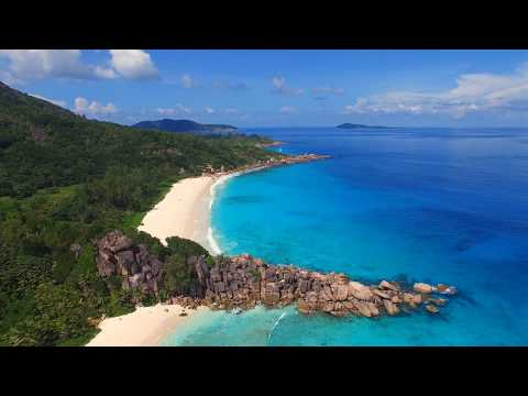 Seychelles: Aerial view of tropical paradise in Indian Ocean (4k UHD)