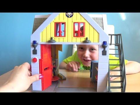 Пожарный Сэм игра как мультик. Видео для Детей про пожарника
