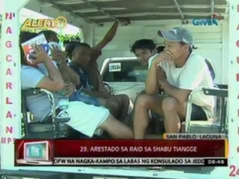 24 Oras: 29, arestado sa raid sa shabu   tiangge sa San Pablo, Laguna