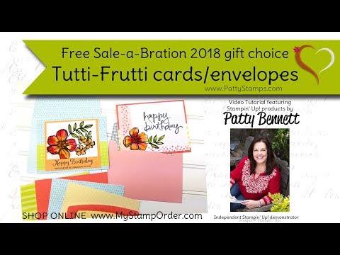 Stampin Up TUTTI-FRUTTI CARDS /& ENVELOPES
