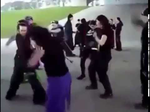 Cybergoth dance party parody