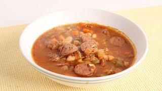 Quick Sausage & Bean Soup Recipe - Laura Vitale - Laura in the Kitchen Episode 1018