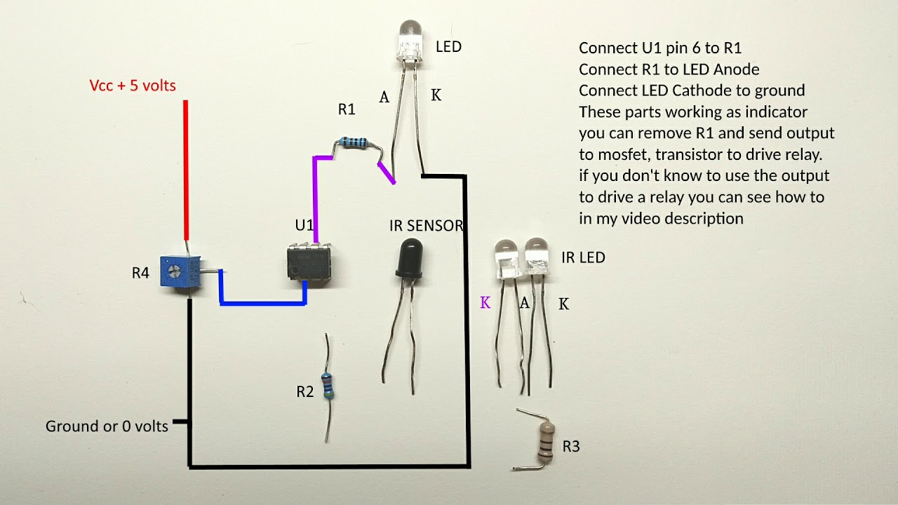 Long Range Infrared Sensor Circuit Diagram