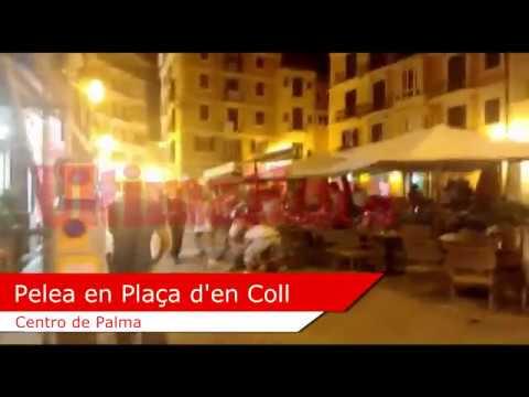 Brutal pelea en la Plaça d'en Coll de Palma