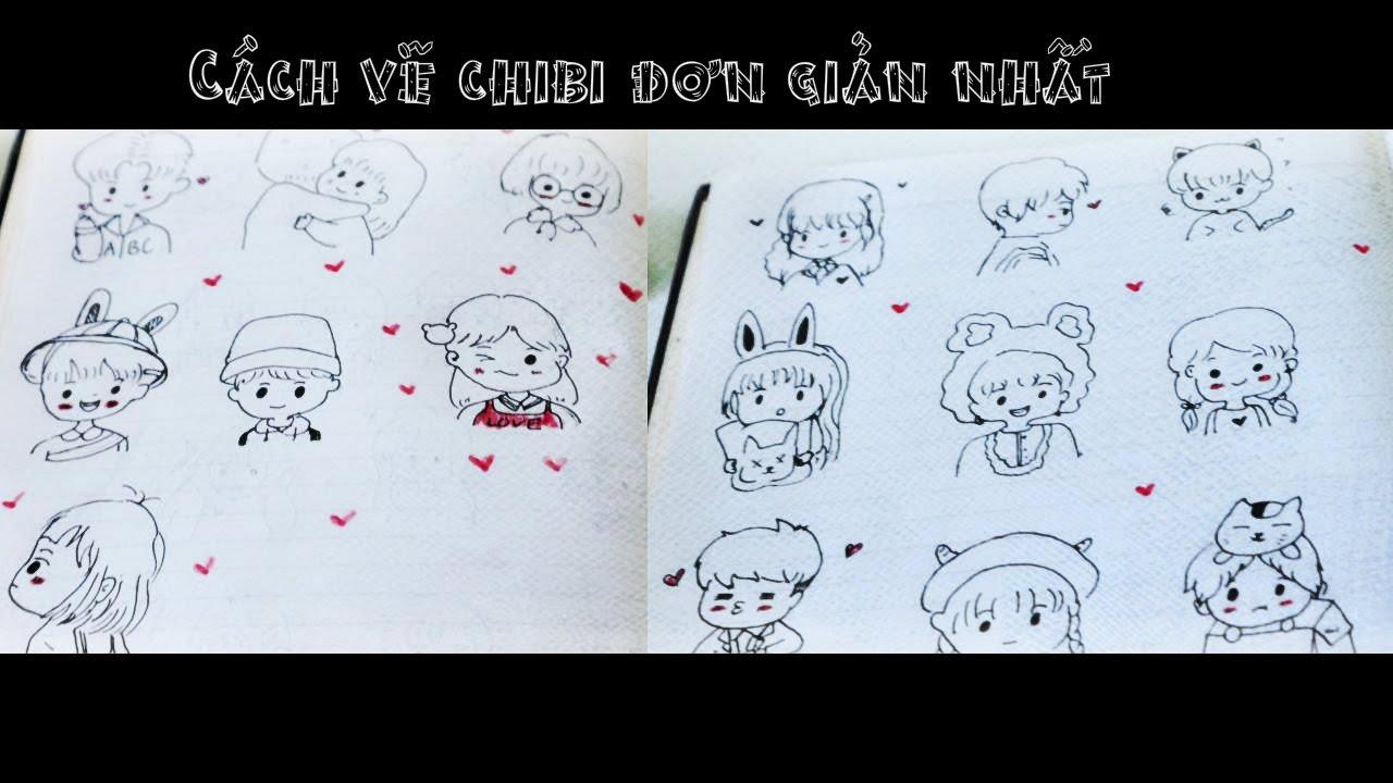 Cách vẽ chibi đơn giản nhất