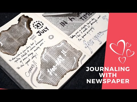10 EASY WAYS TO USE NEWSPAPER WHILE JOURNALING | DIY JOURNALS