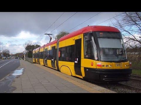 Poland, Warsaw, ride with tram No 11 from Bogusławskiego 03 to Os Wolska 03