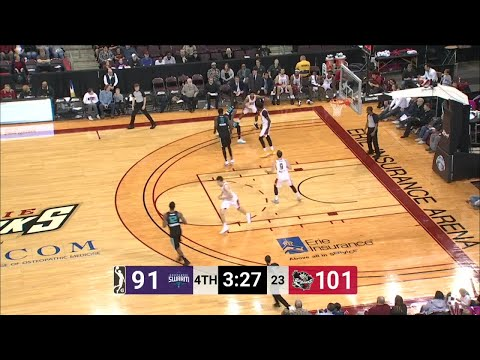 Jeremy Evans Posts 14 points & 14 rebounds vs. Greensboro Swarm