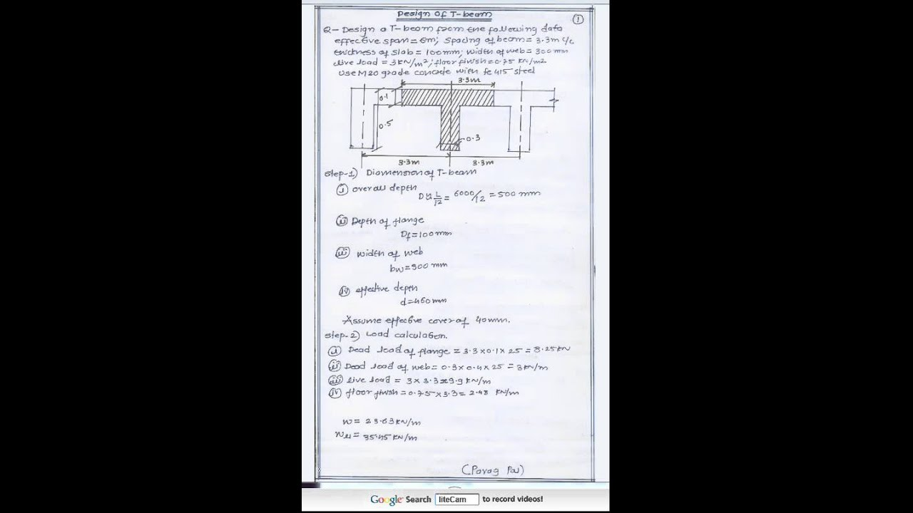 Design of T-beam