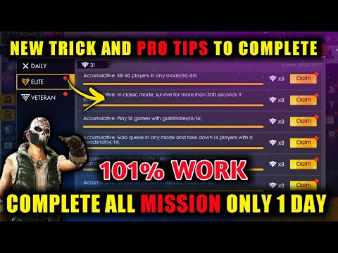 COMPLETE ALL THE  ELITE PASS CHALLENGE EASILY AND VETERAN OF SEASON 13 ELITE PASS || TIPS AND TRICKS
