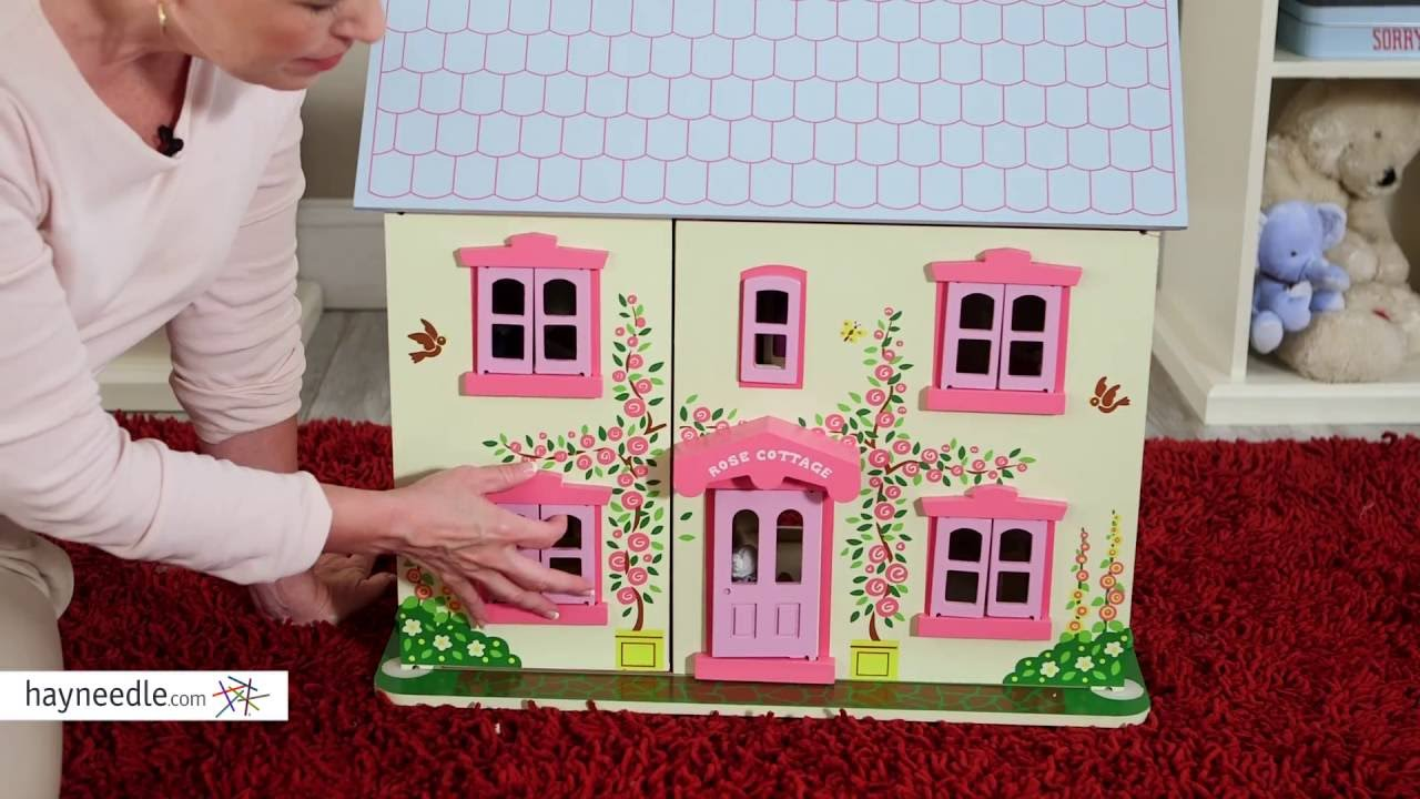 Attractive Bigjigs Toys Rose Cottage Dollhouse   Product Review Video