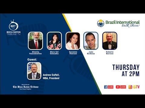 Brazil International talk show, with Andrew Duffell, MBA, President