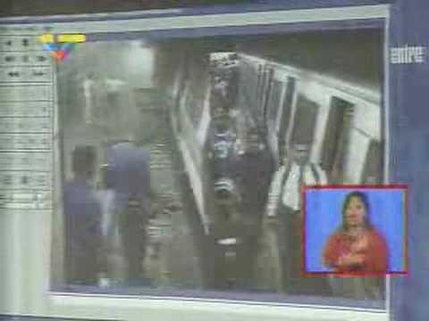 Presentadas imagenes del choque en Metro de Caracas