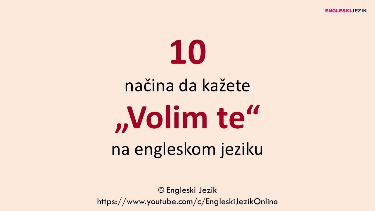 10 Načina Da Kažete Volim Te Na Engleskom Jeziku
