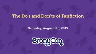 The Dos and Donts of Fanfiction