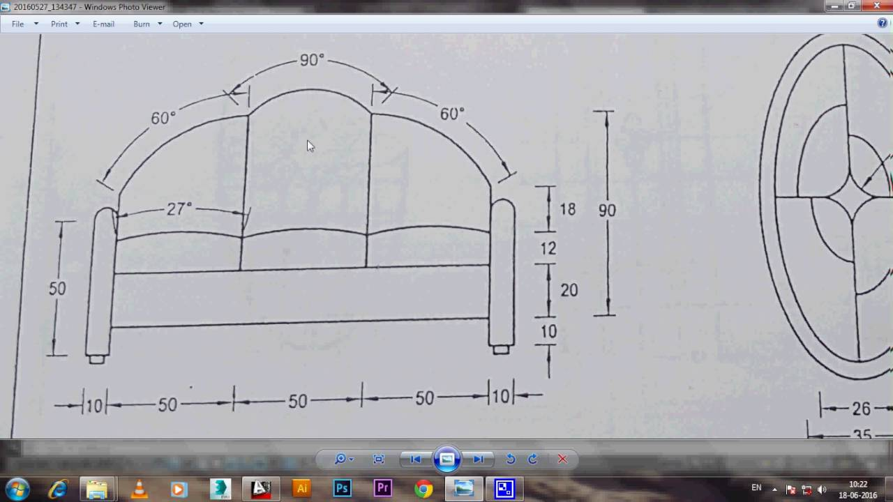 How to make sofa in 2d autocad 2013 language for 2d blueprint maker
