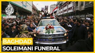 Thousands attend Soleimani and al-Muhandis's funeral in Baghdad
