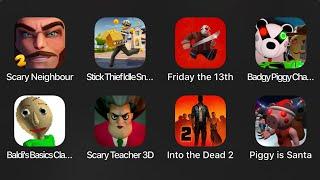 Badgy Piggy Chapter 12,Baldis Basics Classic,Scary Teacher 3D,Into the Dead 2,Piggy is Santana