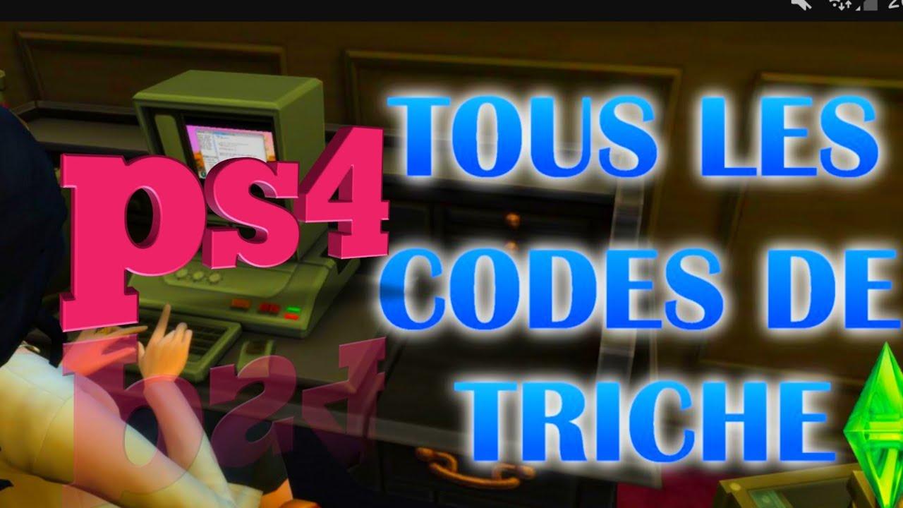 Comment faire les codes de triche sur les sims 4/ps4 - YouTube