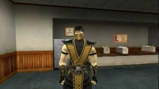 Garrys mod . Mortal Kombat - Scorpion bad day .