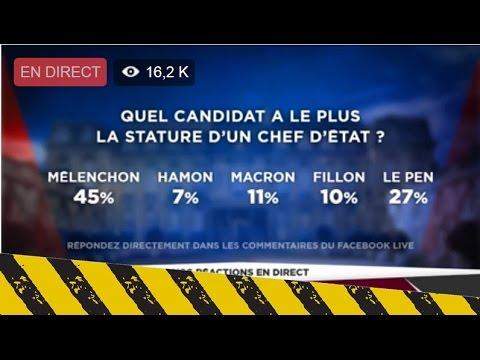 "Mélenchon  Vs Macron Sondage ""Le Grand Débat"" Manipulation BFM TV"
