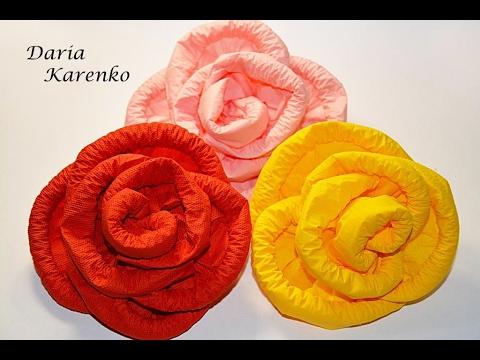 DIY Цветы из салфетки своими руками. Мастер класс / Flowers from napkins