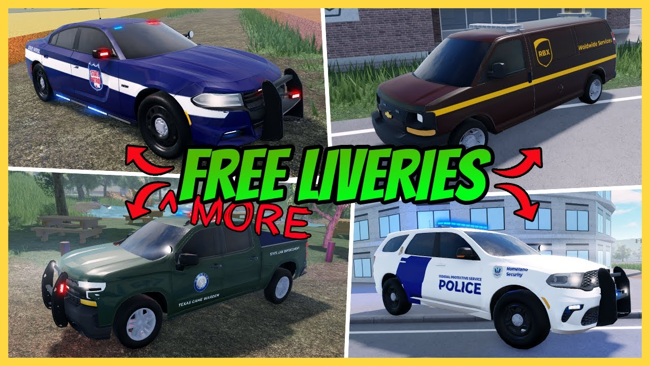 Download ERLC: Best FREE Liveries In Liberty County Pt  2   Free ERLC Liveries   Roblox Roleplay