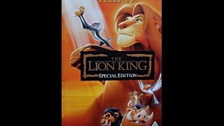 Opening to The Lion King Special Edition UK VHS 2003