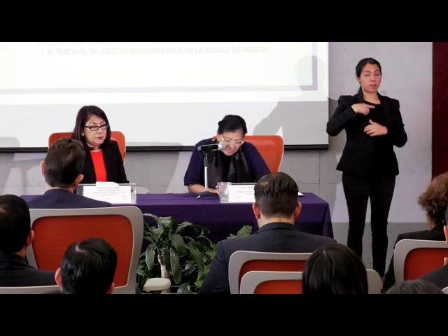 Discurso de la Presidenta de la CDHCM, Nashieli Ramírez, Firma de Convenio con el TJA CDMX