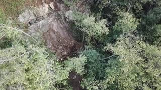La frana sulla ss34 tra Fondotoce e Suna vista dal drone