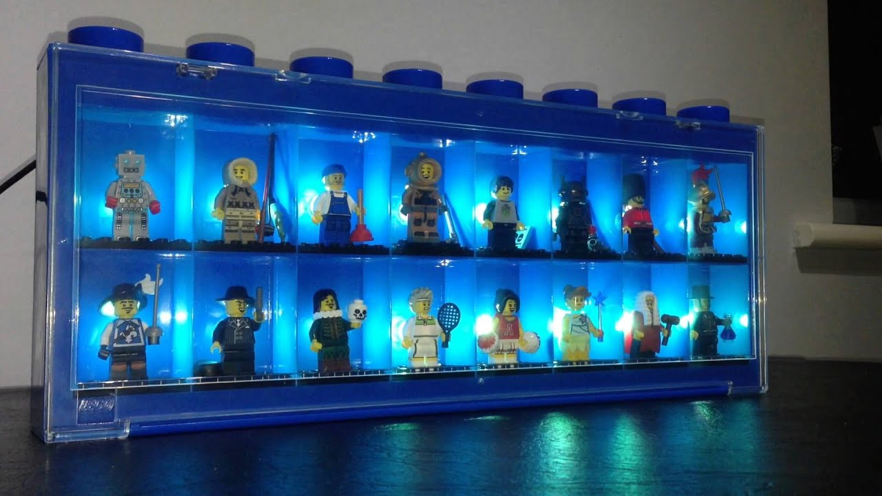 Lego Minifigure Display Case Powered By Arduino Youtube